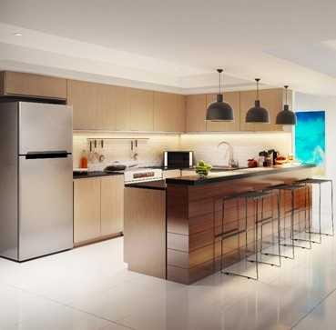 Orean Place Three-Bedroom Unit Kitchen